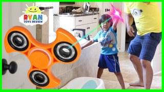 Hide Seek Kids: GIANT FIDGET SPINNER MAGICAL PAINTBRUSH! Chase And Hide N