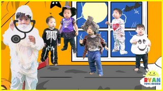 five little monkeys jumping on the bed nursery rhymes songs halloween songs for kids and