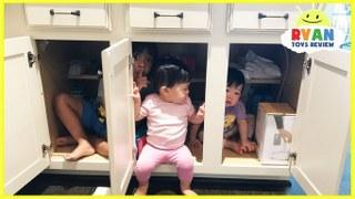 Hide Seek Kids: Kid Plays Hide N Seek With Twins Baby Sisters! Family Fun