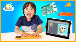 Ryan Learns coding and hack Minecraft by building his own laptop with Kano Computer Kit