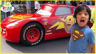 Disney Cars Rides In Real Life With Lightning Mcqueen Allvloggers