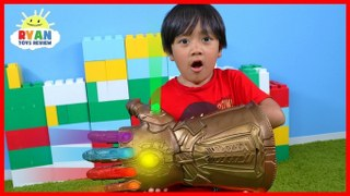 Marvel Avengers Thanos Infinity Gauntlet Hasbro Gear Test!!!!