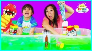 Ryan's World Slime Baff Surprise Toys Challenge game | Mystery Slime , Mystery Putty, Mole ...