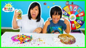 No Bowl No Spoon Slime Challenge Ryan vs Mommy!