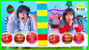 Twin Telepathy Surprise Toys Challenge Fun Fizzers Ryan vs Daddy!