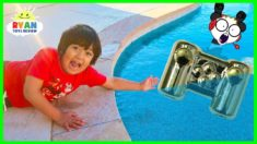 Ryan lost Combo Panda's Gaming Controller in the Swimming Pool…..
