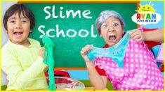 Ryan Pretend Play Making Slime and Learn in School!!!