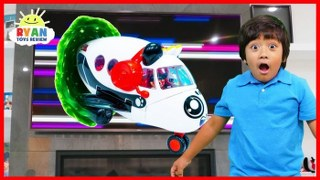 Ryan Pretend Play with Combo Panda Airplane Toys!!!
