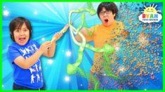 Ryan Pretend Play with Magic Wand!!