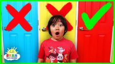 Don't Choose the Wong Door Challenge with Ryan!!!
