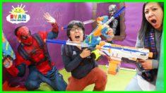 Giant Box Fort Maze Nerf Battle Challenge!!!