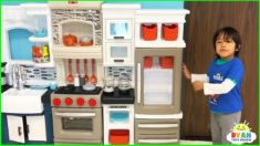 Ryan Pretend Play with Kitchen Food Toy Cooking Playset!
