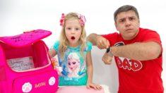 Настя и папа собираются в школу – песенка для детей