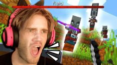 I got RAIDED in Minecraft!!!