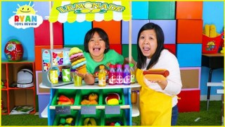 Ryan Pretend Play Grocery Store Shopping and Ice Cream Carts!!!