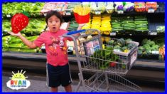 Ryan Kids Size Shopping Cart and Learn Healthy Food choices for Back to School!!!