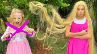 Настя и Стейси делают причёски и красят волосы