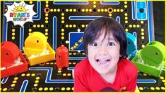 Pac Man Board Game  with Ryan's World!!!