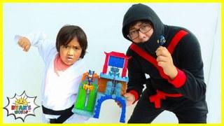PJ Masks and Ryan Track down Night Ninja at Mystery Mountain!!!!