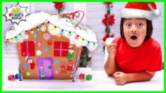 How to Make DIY Gingerbread House from cardboard Holiday Crafts!!!