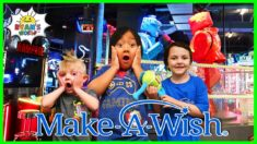 Ryan play games at Dave and Busters with Dalton and Josiah | Make a Wish Edition!!
