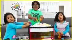 DIY Science Experiment For Kids Rainstorm and Baking Soda and Vinegar!!!
