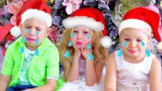 Настя и папа празднуют Новый год и Рождество