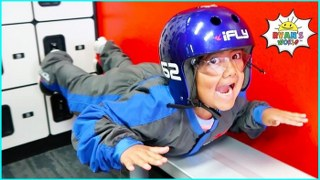 Ryan learns to fly at iFLY and other fun Kids places!!!