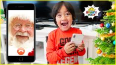 Santa called Ryan and surprise him with Christmas DIY Science Experiments!!