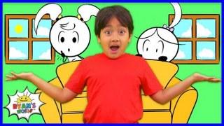 Ryan play hide and Seek with Emma and Kate EK Doodles | Kids animation fun