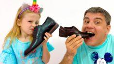 Настя и папа – история для детей про вредные сладости и конфеты