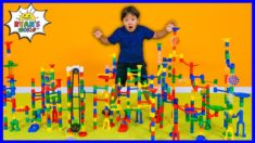 Marble Run Races Giant Set Build!!!!
