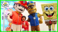 Ryan meets Paw Patrol Chase and SpongeBob SquarePants!!!!