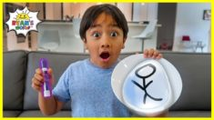 Easy DIY Science Experiment Drawing Float with Magic Marker Trick!!!!