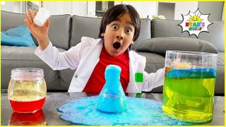 Easy DIY Science Experiments For Kids with Ryan #StayHome Learn #WithMe
