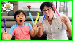 How To Make Rock Candy DIY Science Experiment with Ryan's World!!!!