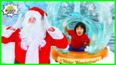 Ryan helps Animals feels better and go Visit Santa Claus at the North Pole