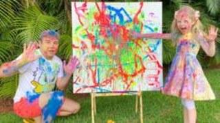 Настя и папа – весёлые развлечения дома