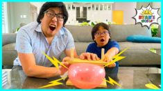 Balloon Pop on Bed of Nails Easy DIY Science Experiments for kids!!!
