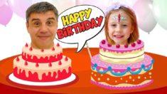 Настя и коллекция видео про День рождения