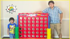 Giant Connect 4 Family Game with 1 hour Kids Activities with Ryan