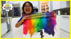 DIY Crayon Melting Art for Kids with Ryan!!!