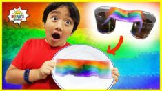 DIY Rainbow Science Experiment for kids with Ryan's World!!!