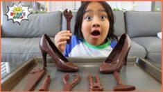 Ryan's Chocolate Challenge! Real vs Fake Edibles candy Pretend play!