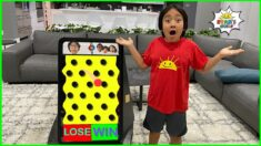 Ryan plays Prize Drop Challenge Fail or Win on Daddy and more 1 hr fun kids activities!!!