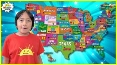 Learn 50 United States of America Name with Capitals for Kids and Abbreviation of USA!!