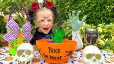 Nastya and her Trick or Treat for Halloween