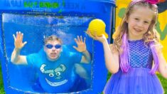 Nastya and kids outdoor play and toys