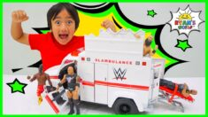 Ryan Plays with WWE Toys!