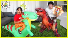 Ryan's Dinosaur vs Daddy's Dinosaur Pretend Play!!!